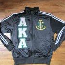 Alpha Kappa Alpha Sorority Fleece Track Jacket 1908 AKA IVY LEAF Howard