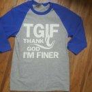 "ZETA PHI BETA SORORITY Baseball  T-shirt THANK GOD I""M FINER ZETA Greek TEE"