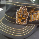 ALPHA PHI ALPHA  FRATERNITY CADET HAT CAP 1906 BASEBALL HAT BLACK CAPTAINS CAP