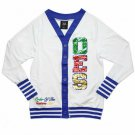 Order of the Eastern Star Cardigan sweater White O.E.S Sequin Cardigan Sweater