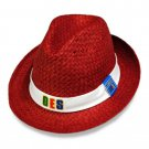 Order of the Eastern Star Fedora Cap Hat Sorority OES Straw Hat