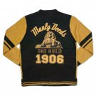ALPHA PHI ALPHA FRATERNITY WOOL CARDIGAN SWEATER GOLD SWEATER TOP