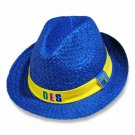 Order of the Eastern Star Fedora Cap Hat Sorority Blue OES Straw Hat