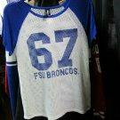 Fayetteville State University Broncos Women's HBCU Top Shirt Tank Med FSU BRONCO