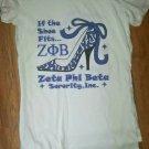 ZETA PHI BETA SORORITY TANK TOP T-SHIRT 1920 Z-PHI B SHOE FITS T-SHIRT