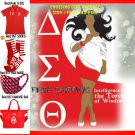 Delta Sigma Theta Sorority Crossing Gift Package POLO SOCKS FACE MASK PURSE RED