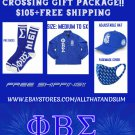 PHI BETA SIGMA FRATERNITY  Crossing Gift Package HAT JACKET SOCK FACE MASK
