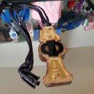 Alpha Phi Alpha Fraternity Wood Tiki Necklace Mirror Tiki Necklace chain