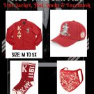 KAPPA ALPHA PSI FRATERNITY Crossing Gift Package HAT JACKET SOCK FACE MASK