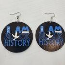 Zeta Phi Beta Sorority wooden style Earrings 1920 #2