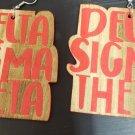 Delta Sigma Theta Sorority wooden style Earrings 1913 #4