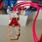Kappa Alpha Psi Fraternity Wood Tiki Necklace Mirror Tiki Necklace chain