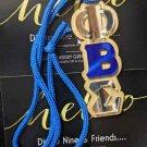 Phi Beta Sigma Fraternity Wood Bead Tiki Mirror Phi Beta Sigma Necklace