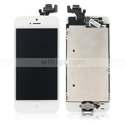 OEM LCD Screen with Digitizer and Small Parts Replacement Parts for Apple iPhone 5 White