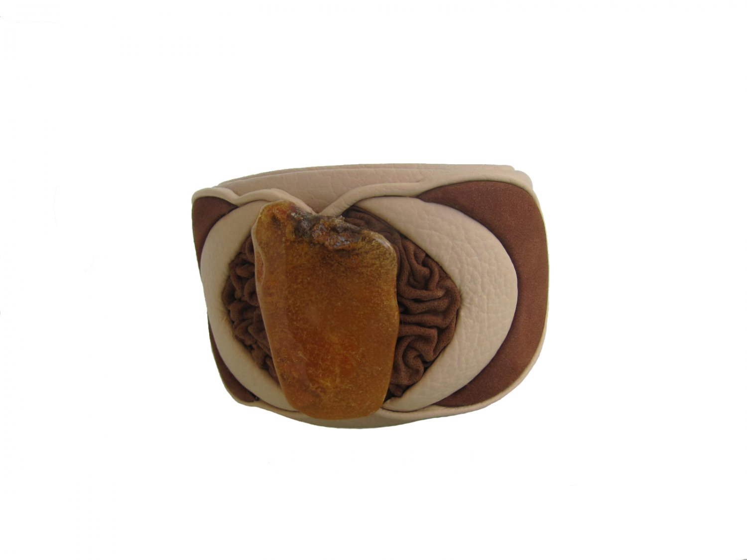 Exclusive Genuine Leather - Baltic Amber Bracelet FREE DELIVERY