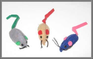 Baby Felt Mice Cat Toy