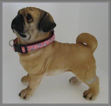 Bark Ave. Pink Zinnias Dog Collar