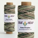 TRUE HEMP spool - Variegated FOREST - 1mm diameter 20lb - 205feet/62m - 50gram