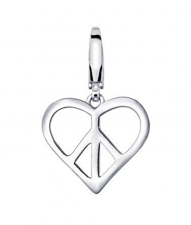 925 Silver Love Heart Charm, Girlfriend Women Girl Gift C05194J