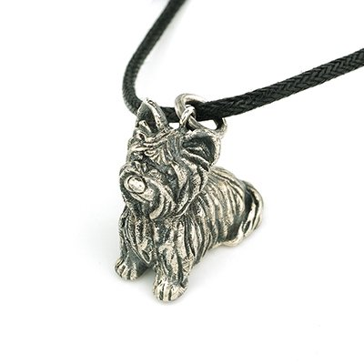 Doggie Dog Puppy Pet Yorkshire Terrier 925 Silver Pendant Necklace Fashion Jewelry Gift Q22576P