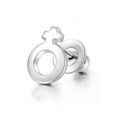 925 Sterling Silver Polished Zodiac Capricorn Stud Single Earring Fashion Jewelry Women C05656L