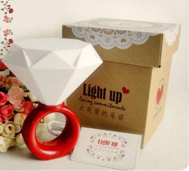 Diamond Ring USB Desk I Love You LED Lamp Night Light Romantic Valentine Lover Gift for Her