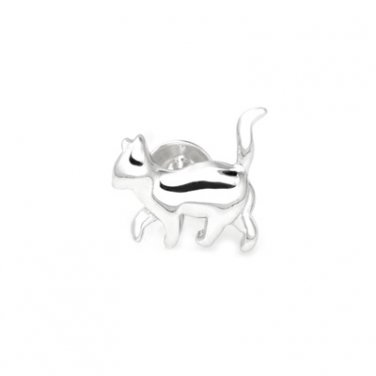 925 Sterling Silver Polished Walking Cat Single Stud Earring Fashion Jewelry Girl C05756L