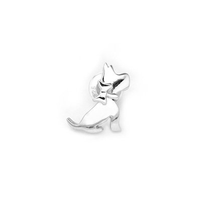 925 Sterling Silver Polished Yorkshire Terrier Dog Single Stud Earring Fashion Jewelry Teen C05698L