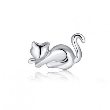 925 Sterling Silver Kitty Single Stud Earring, Fashion Jewelry For Women, Girl & Teens C05759L