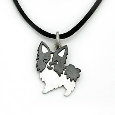 Papillion 925 Silver Pendant Necklace Pet Dog Doggie Puppy Birthday Gift Fashion Jewelry Q21959P