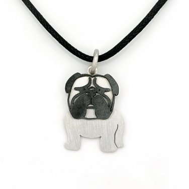 Pug 925 Silver Pendant Necklace Pet Dog Doggie Puppy Birthday Gift Fashion Jewelry Q21962P