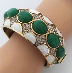 CINER Cabochon Crystal Rhinestone & Enamel Bracelet
