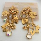 Kirks Folly Fairy Motif dangling charm earrings