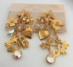 Kirks Folly Fairy Motif dangling charm earrings