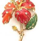 Jose Maria Barrera Circa 1994 Hibiscus Floral Brooch