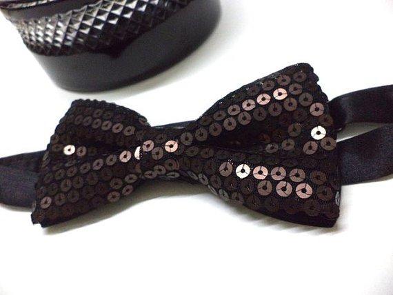 Brown / Bronze ,Copper colour Sequin Bow tie, Men, party, wedding,pre-tied