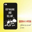 iphone 4, 4s and iphone 5 case keep walking and kill ant style plastic hard case