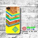 wood iPhone 4 4s case, geometric iphone 4 case, Monogram iphone case