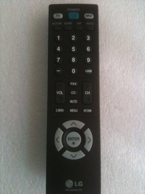 REMOTE CONTROL FOR LG TV 62SX4D 71PY1M DU-37LZ30 DU-42LZ30 DU-42PX12X DU-50PY10