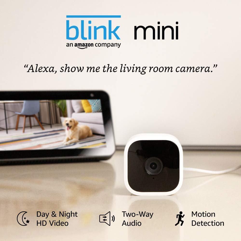 Blink Mini � Compact indoor plug-in smart security camera