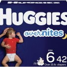 Huggies Overnites Nighttime Baby Diapers   Size 6, 42 Ct