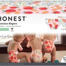 HONEST Super Club Box, Clean Conscious Diapers, Just Peachy + Flower Power, Size 4, 120 Count