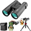12x42 HD Binoculars for Adults with Upgraded Phone Adapter, Tripod and Tripod Adapter