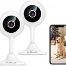 Goowls Security Camera Indoor, 2-Pack 1080p HD 2.4GHz WiFi Plug-in IP Camera
