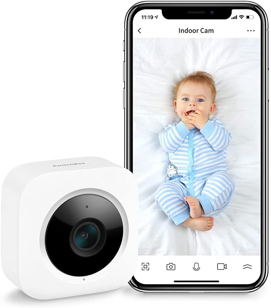SwitchBot Security Indoor Camera, Motion Detection for Baby Monitor