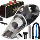 AU Portable Car Vacuum Cleaner: High Power Corded Handheld Vacuum w/ 16 Foot Cable