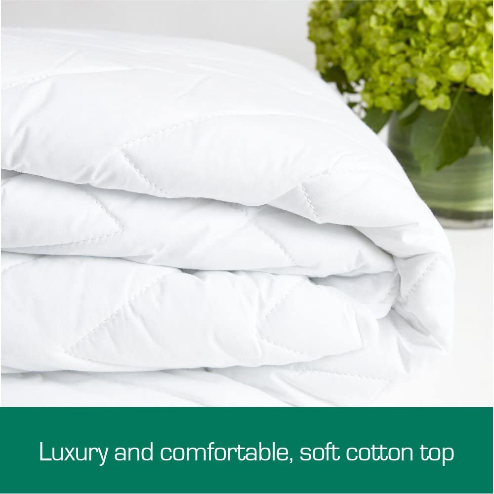 AU Fully Fitted Cotton Quilted Mattress Protector Machine Washable (King Single)