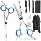 AU Professional Hair Cutting Scissors, YBLNTEK 9 PCS Barber Thinning Scissors