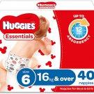 AU Huggies Essentials Nappies Size 6 (16+kg) 40 Count
