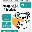 AU Hugs & Bubs, Size 3 Crawler nappies (6 -11kg), 168 nappies, One Month Supply